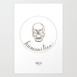 humanities skull Art Print