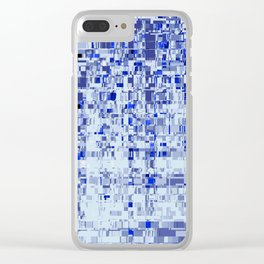 Abstract Architecture Blue Clear iPhone Case