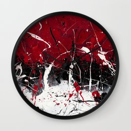 Groove In The Fire Wall Clock