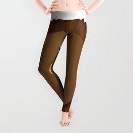 Chocolate Box Wallnut Leggings