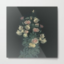 Roses in the dark Metal Print