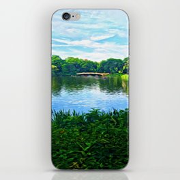 Central Park Bridge Over Peaceful Waters iPhone Skin