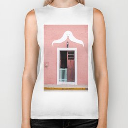 Pink House in Mexico Biker Tank