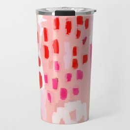 Wesli - minimalist pink purple white trendy millennial pink home decor canvas art Travel Mug