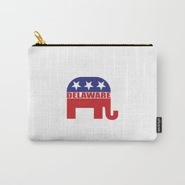 Delaware Republican Elephant Carry-All Pouch