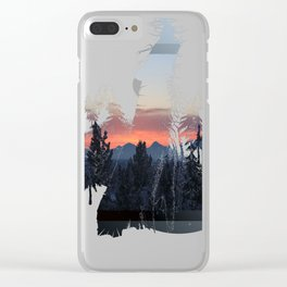 Down the Bypass Entrance Clear iPhone Case