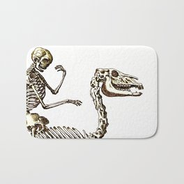 Horse Skeleton & Rider Bath Mat