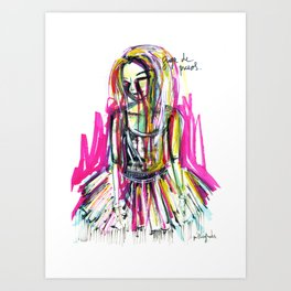 Dance in the dark Art Print
