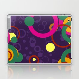 Abstract Pink and Purple Circle Pattern - Colorful Art Laptop & iPad Skin