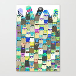 Snow? No Prob-Llama Alpaca My Board Canvas Print