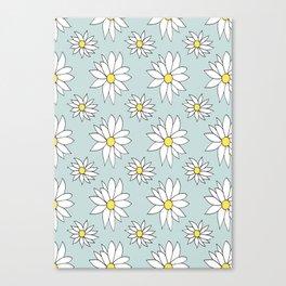 Fresh As A Daisy (Duckegg) Canvas Print