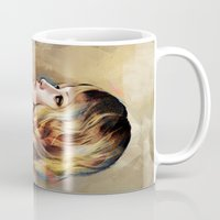 jennifer lawrence Mugs featuring Lawrence by Meder Taab