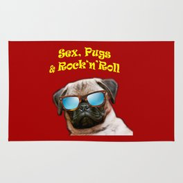 Sex, Pugs and Rock n Roll Rug