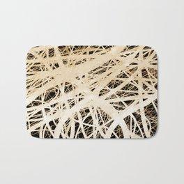 Neurons abstract art by Ann Powell Bath Mat