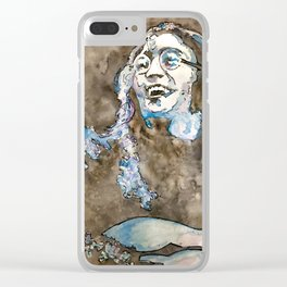 Rooftop John Watercolor Clear iPhone Case