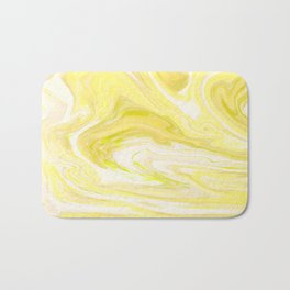 Cute Yellow Marble Bath Mat