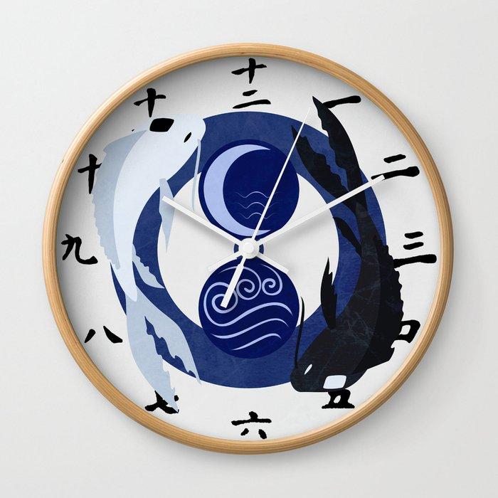 Avatar The Last Airbender Water Clock Face Wall Clock By Artofsara