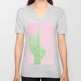 Cactus Pink Unisex V-Neck