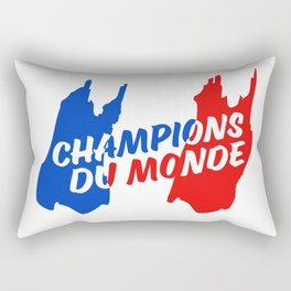 World Champions French Soccer Football Rectangular Pillow