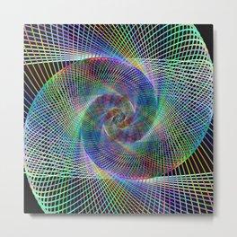 Fractal spiral Metal Print