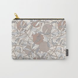 Pale Winter Hues Pomegranate Fruit Branches with Leaves Carry-All Pouch