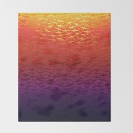 Sharks At Sunset Throw Blanket