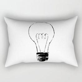 Lightbulb Sketch Rectangular Pillow