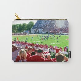 Cream and Crimson Football Carry-All Pouch