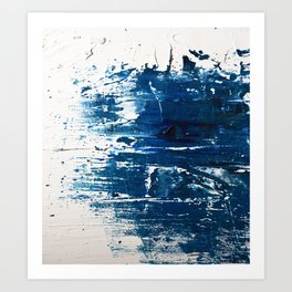 Tranquil: a minimal, abstract piece in blue by Alyssa Hamilton Art Art Print
