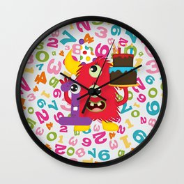 Birthday Monster 1st Birthday Wall Clock