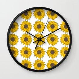Sunflower Power Wall Clock