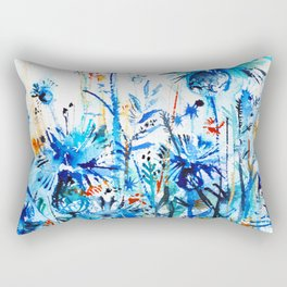 thickets of cornflowers Rectangular Pillow