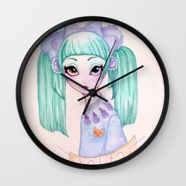 Purple Kisses  Wall Clock