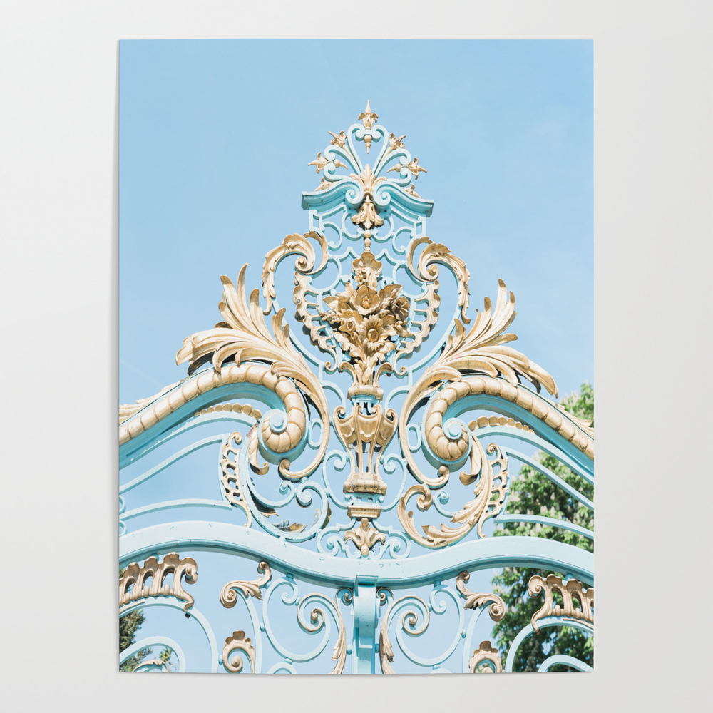 Royal Blue Gate In Paris, France Poster by Prettyplacesphotography POS9023226