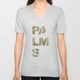 Palms Typo  #society6 #decor #buyart Unisex V-Neck