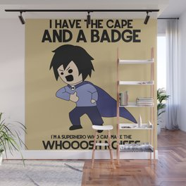 Cape and Badge Wall Mural