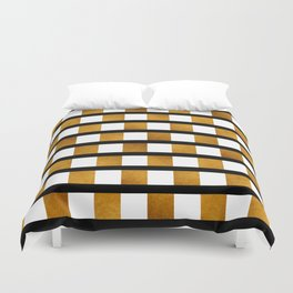 Black White and Gold Duvet Cover