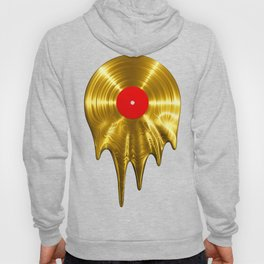Melting vinyl GOLD / 3D render of gold vinyl record melting Hoody