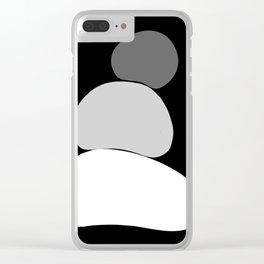 b&w 1 Clear iPhone Case