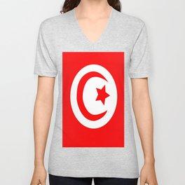 Flag of Tunisia Unisex V-Neck