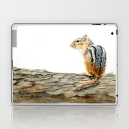 Little Chip - a painting of a Chipmunk by Teresa Thompson Laptop & iPad Skin