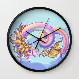 Lady Rainicorn Wall Clock