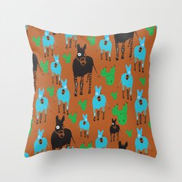 Desert Life One Throw Pillow