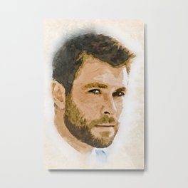 A Tribute to CHRIS HEMSWORTH Metal Print