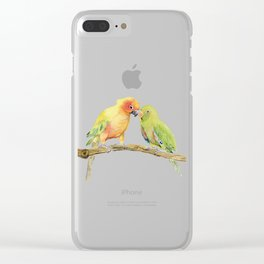 Parakeet - Friendship Clear iPhone Case