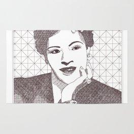 Billie Holiday Jazz Portrait Rug