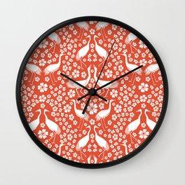 Beautiful Cranes Wall Clock