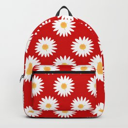 Daisy red pattern Backpack
