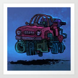 Rust Bucket Art Print