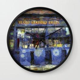 Ye Old Shambles Tavern York Art Wall Clock